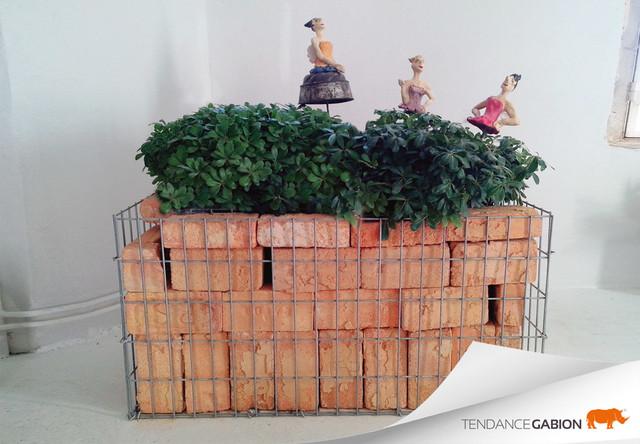 gabion cr atif contemporary patio grenoble by. Black Bedroom Furniture Sets. Home Design Ideas