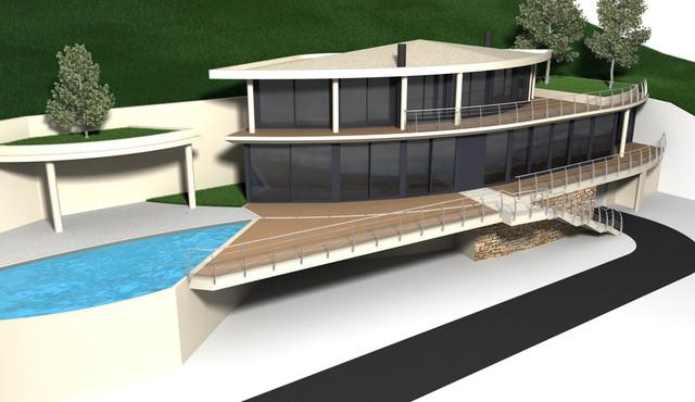 garde corps inox design r gion canne bord de mer terrasse en bois et balcon other metro. Black Bedroom Furniture Sets. Home Design Ideas