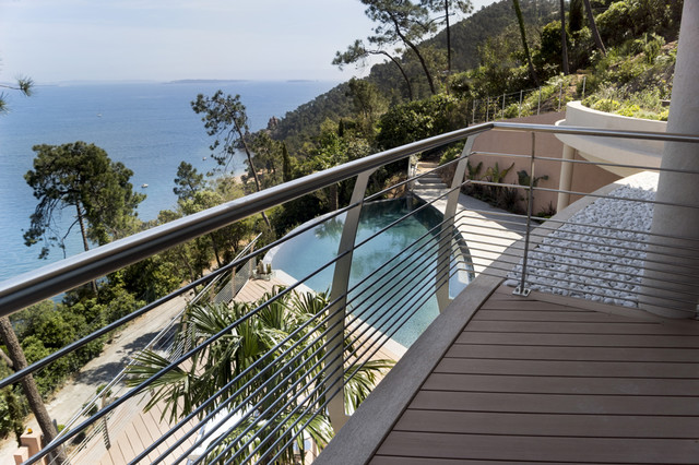 garde corps inox design rgion canne beach style deck