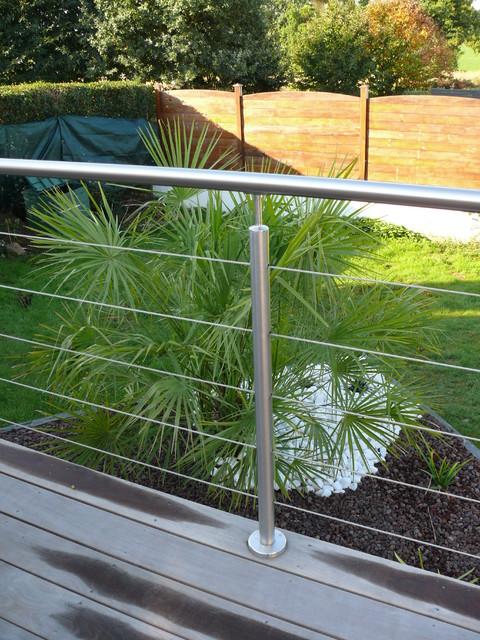 garde corps inox remplissage c bles inox qualit marine 316 contemporain terrasse en bois. Black Bedroom Furniture Sets. Home Design Ideas