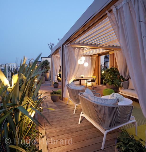 h tel mandarin oriental paris tropical deck paris. Black Bedroom Furniture Sets. Home Design Ideas