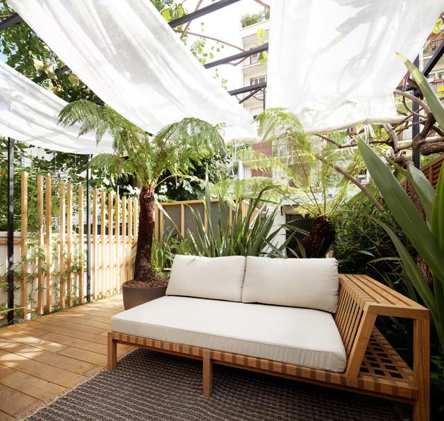 Jardin Exotique A Paris Tropical Terrace Balcony