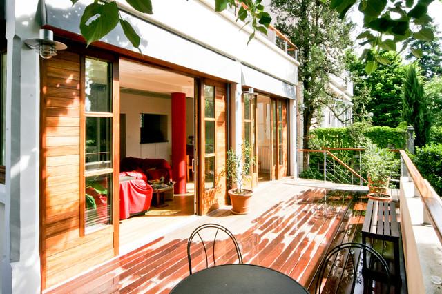 la terrasse suspendue. Black Bedroom Furniture Sets. Home Design Ideas