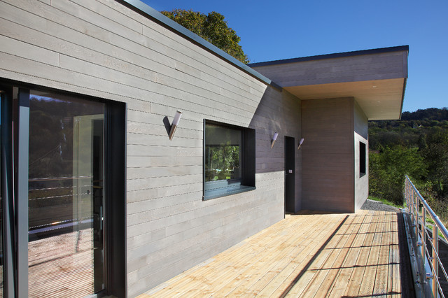 Maison bois contemporaine - Modern - Terrasse - Dijon - von ...
