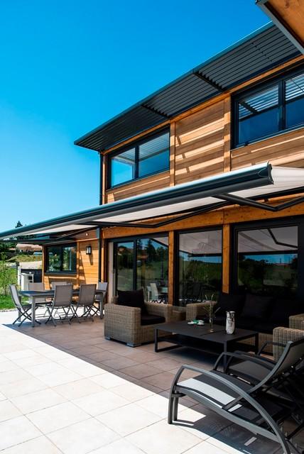 maison bois poteau poutre toiture terrasse millery lyon 69. Black Bedroom Furniture Sets. Home Design Ideas
