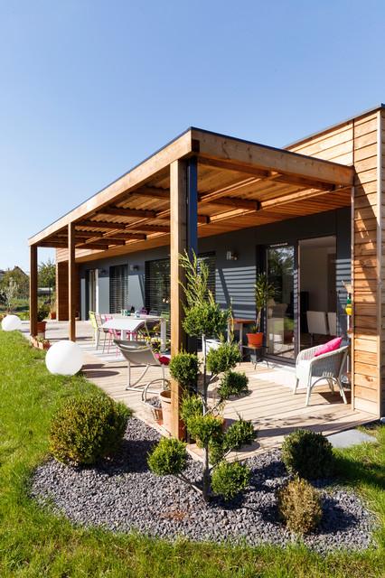 maison booa alsace contemporain terrasse en bois. Black Bedroom Furniture Sets. Home Design Ideas
