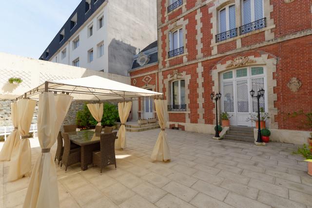 maison bourgeoise cherbourg classique terrasse et On terrasse maison bourgeoise