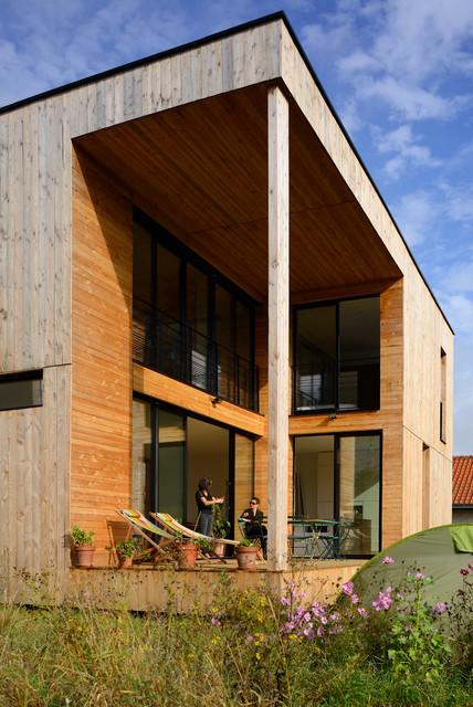 maison cube - Modern - Terrasse - Lyon - von barrès-coquet architectes
