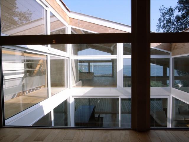 maison ossature m tallique et bois bord de mer terrasse et patio bordeaux par denis. Black Bedroom Furniture Sets. Home Design Ideas