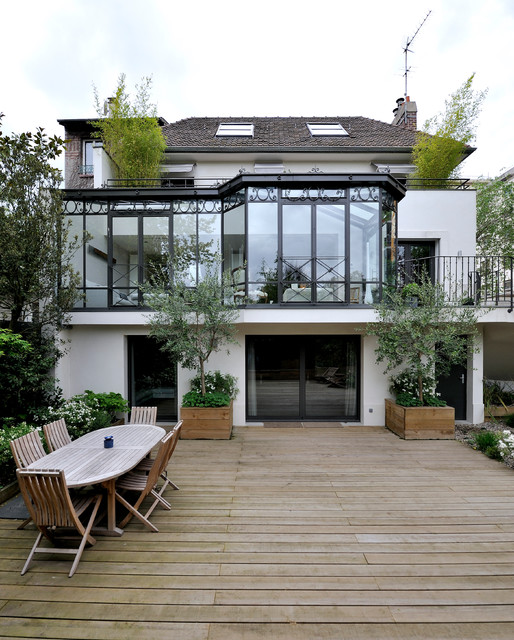 Maison suresnes contemporain terrasse en bois paris for Terrasse design contemporain