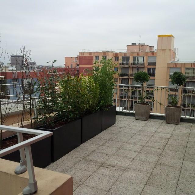 Paris buttes chaumont rooftop garden terrasse sur le toit for Terrasse sur le toit paris