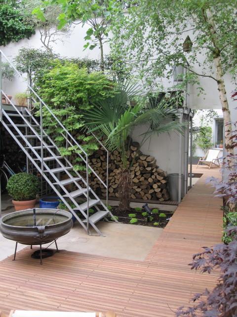 Patio De Style Industriel Industriel Terrasse En Bois