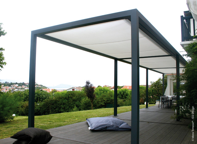 pergolas moderne terrasse en bois le havre par abritez vous chez nous socotex. Black Bedroom Furniture Sets. Home Design Ideas
