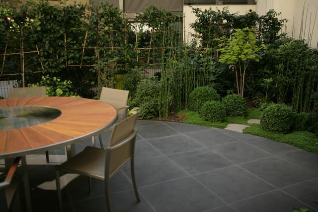 Petit jardin parisien 15 me contemporain terrasse et for Jardin urbain contemporain