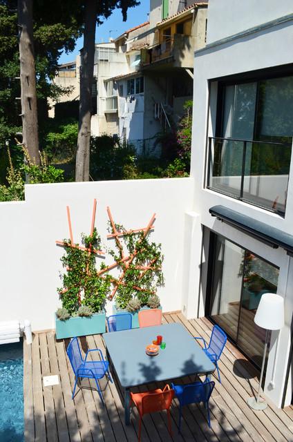 Petite terrasse avec piscine - Petite terrasse moderne ...