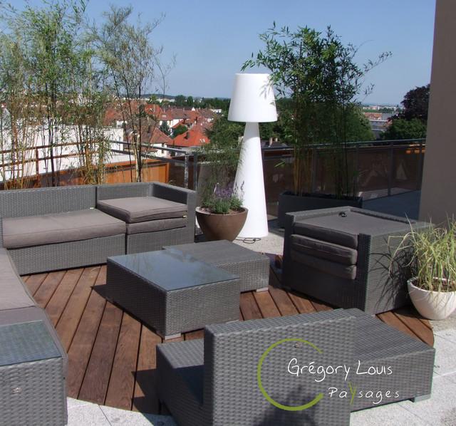 Projet HYP. aménagement terrasse en attique