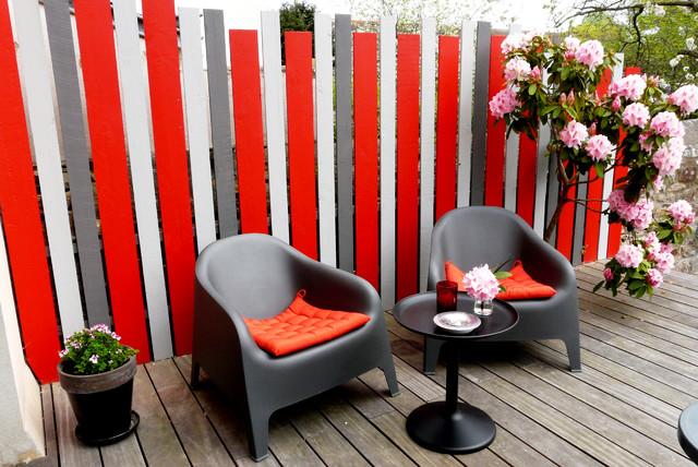 r novation compl te maison 1920 entr e cuisine ouverte sur salon contemporary patio. Black Bedroom Furniture Sets. Home Design Ideas