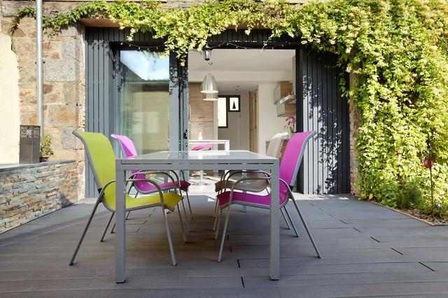 r novation d 39 une long re campagne terrasse et patio rennes par o2 concept architecture. Black Bedroom Furniture Sets. Home Design Ideas