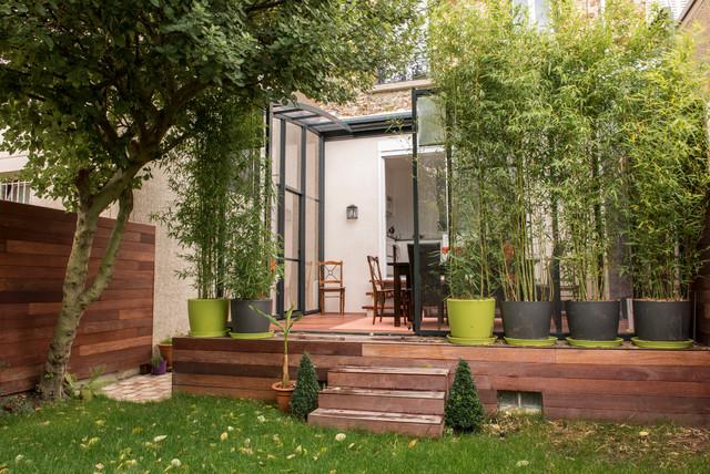 r novation d 39 une maison en meuli re contemporary deck other metro by adc l 39 atelier d 39 c t. Black Bedroom Furniture Sets. Home Design Ideas