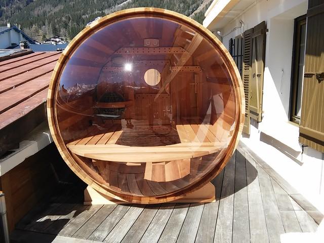 Sauna Bulle Extrieur  Contemporain  Terrasse En Bois