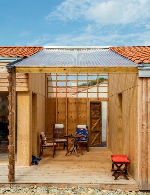 sylvie le pr au lien entre maison et studio campagne terrasse en bois nantes par. Black Bedroom Furniture Sets. Home Design Ideas