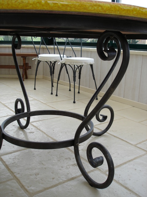 Table en fer forg - Table chaise fer forge ...