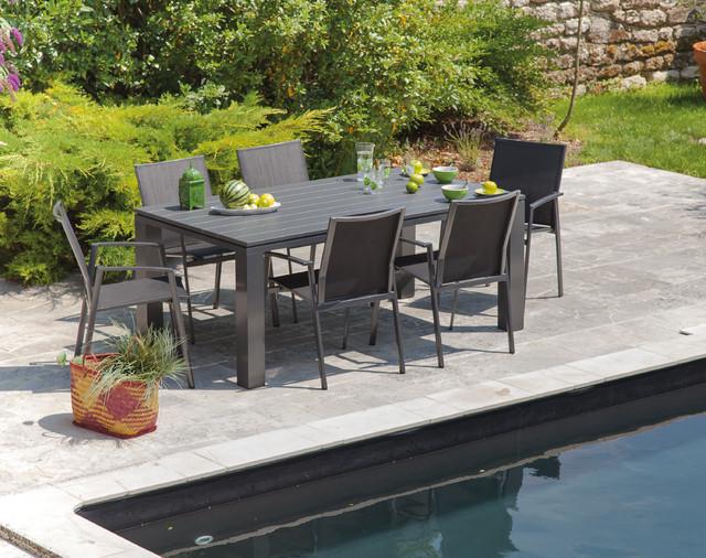Terrasse aménagée avec du mobilier de jardin Proloisirs ...