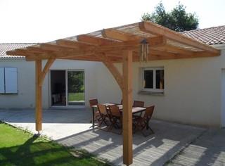 terrasse bois et pergolas campagne terrasse en bois angers par bois et paille. Black Bedroom Furniture Sets. Home Design Ideas