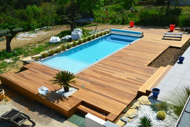 terrasse bois pour piscine With lovely photo terrasse bois piscine 3 terrasses en bois