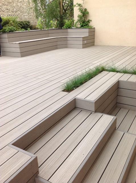 Terrasse en bois composite - Modern - Terrasse - Paris - von ...