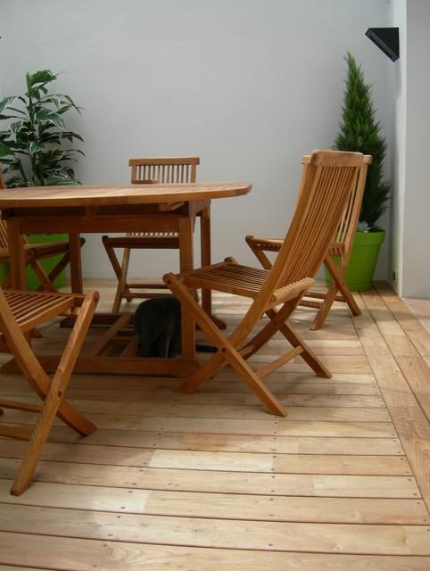 Terrasse en Bois / essence: Acacia ou Robinier - Classique ...
