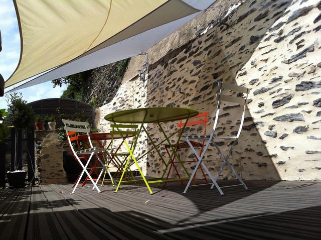Voile Ombrage Terrasse : Terrasse en ip u00e9 et voile ombrage Contemporary Deck