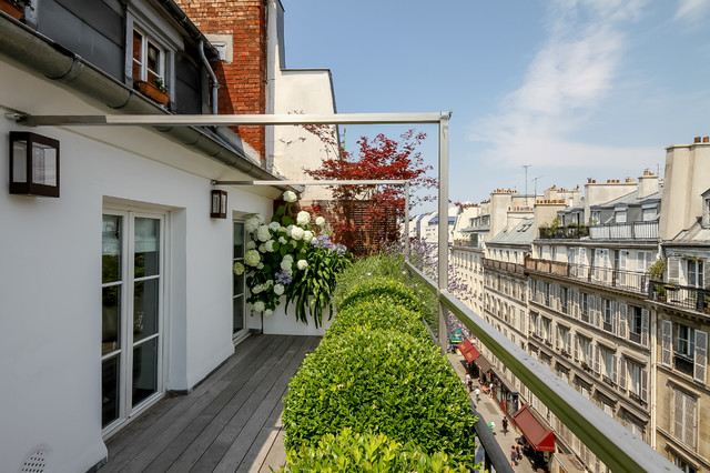 Terrasse rambuteau contemporain paris par terrasses des oliviers paysagiste paris for Paysagistes paris