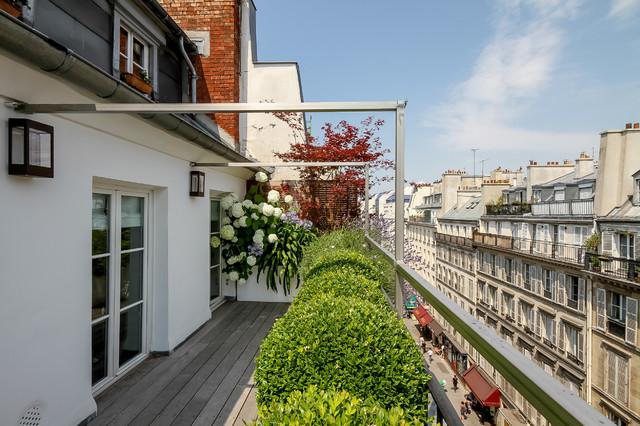 Terrasse rambuteau contemporary paris by terrasses des oliviers paysa - Paysagiste terrasse paris ...