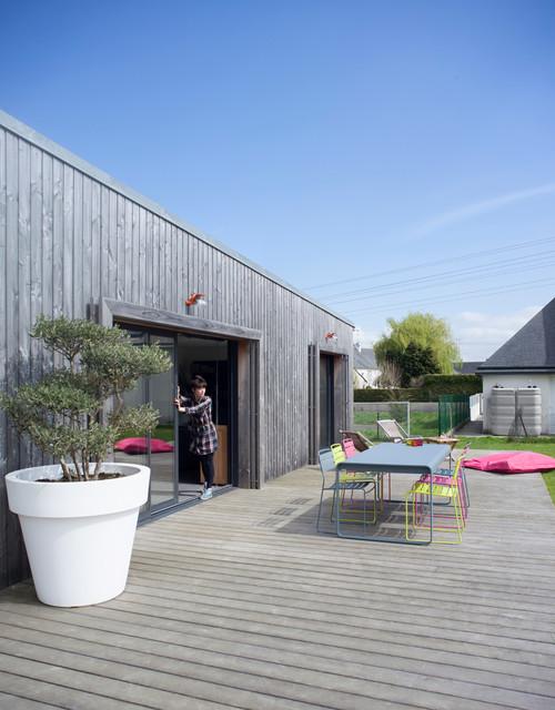 contemporain terrasse en bois by vendredi architecture urbanisme - Plantes De Terrasse Exterieur