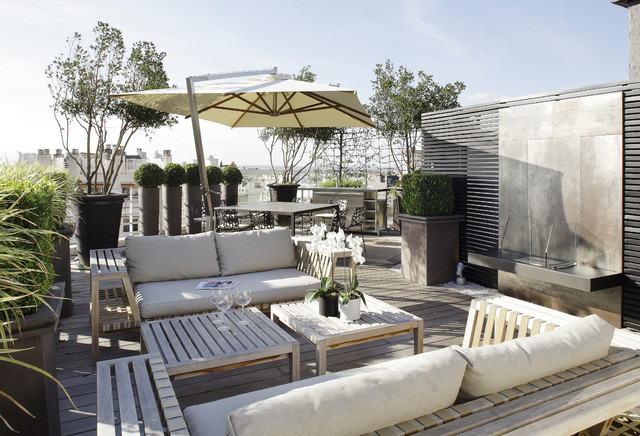 une terrasse a paris contemporain terrasse en bois paris par loup co. Black Bedroom Furniture Sets. Home Design Ideas