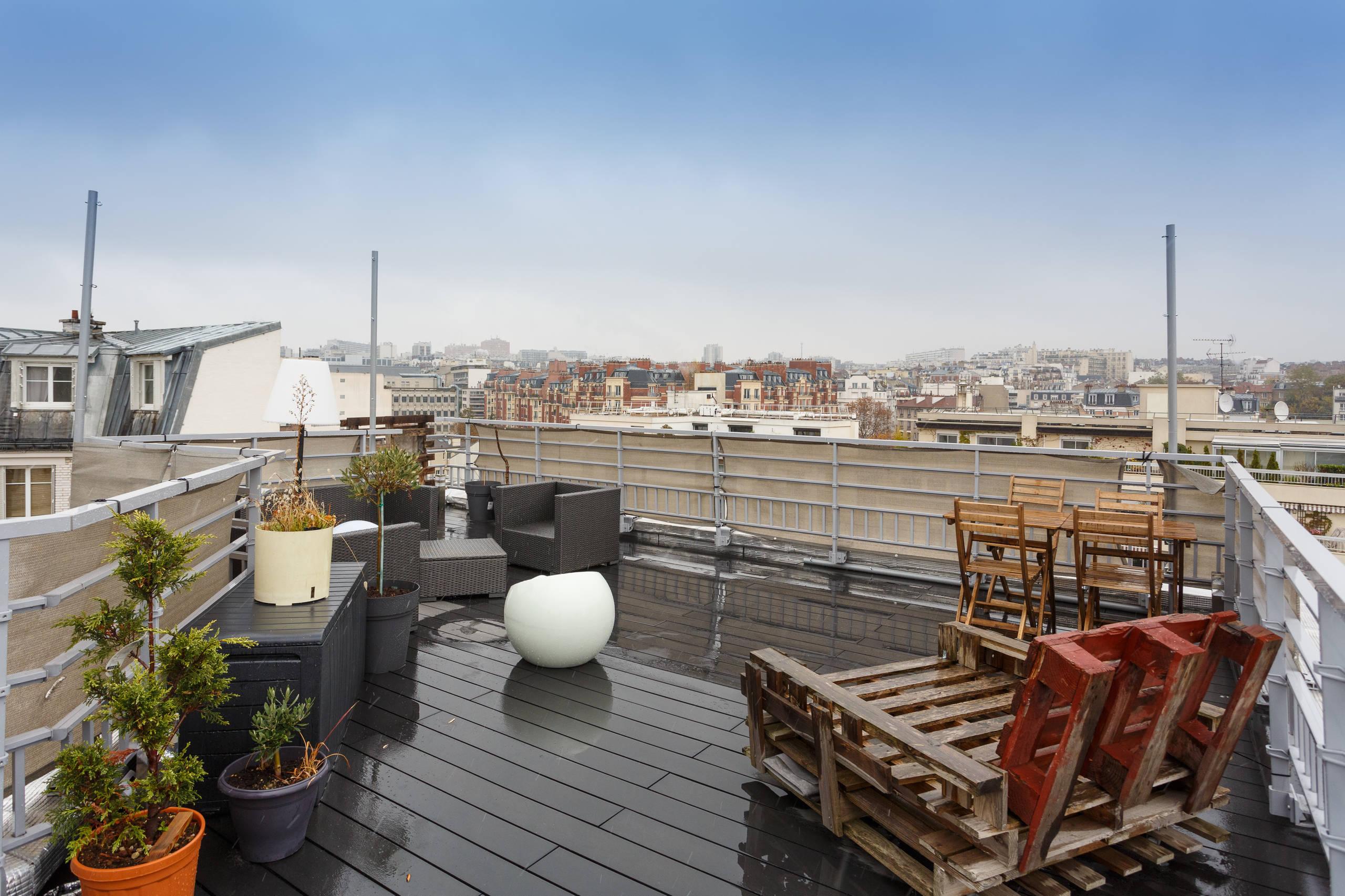 Une terrasse sur les toits