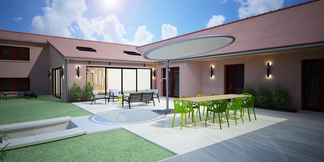 Moderne  Terrasse en Bois  Autres périmètres  par BARU DESIGN