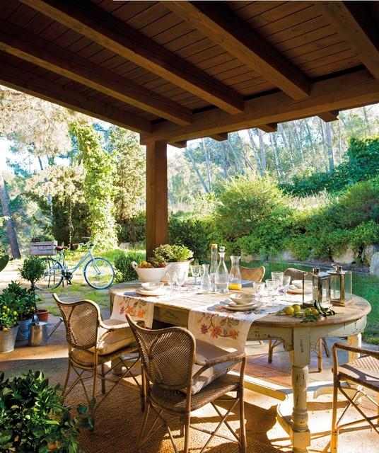 Casa de campo patio - Porches de casas ...