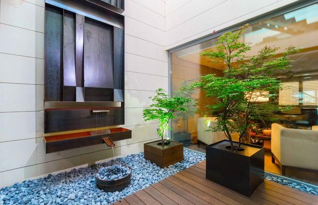 escultura y dise o jardin interior