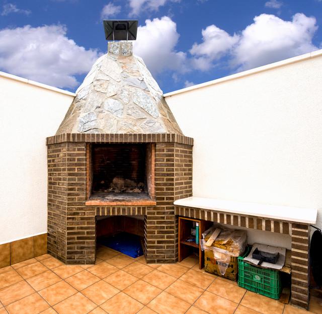 Barbacoas de exterior barbacoa obra chimenea humos - Leroy merlin muebles de jardin y terraza saint etienne ...