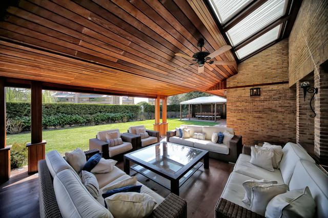 Porches jardines terrazas piscinas for Piscinas desmontables para terrazas