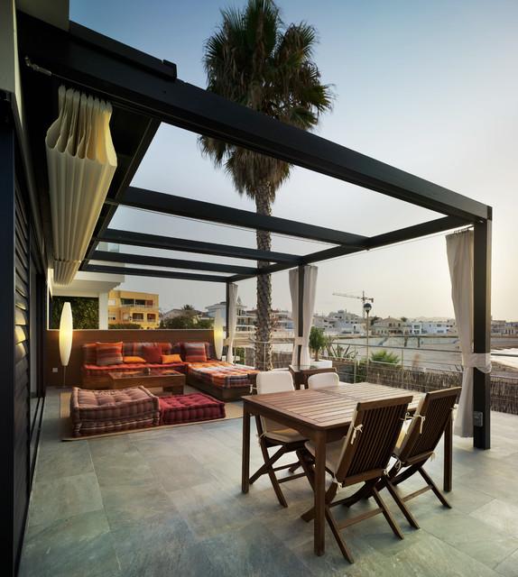 Residencia de verano en palos murcia mediterr neo terraza y balc n m laga de gast n y - Toldos galindo ...