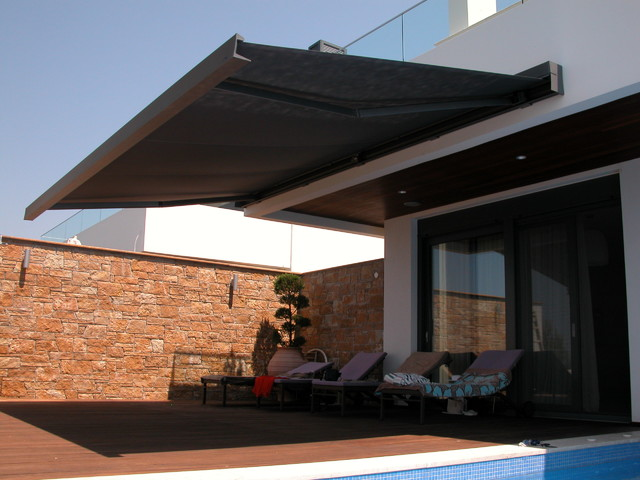 Toldo de diseño en terraza