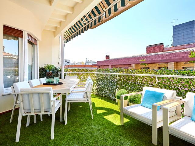 Una Terraza Con Vistas Contemporary Deck Madrid By