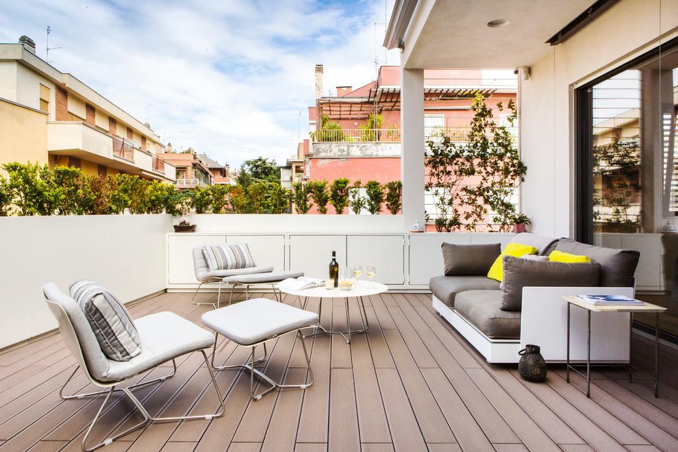 Idee per una terrazza minimal con nessuna copertura