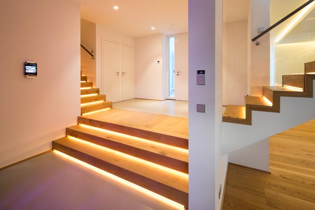 Einfamilienhaus Neubau Modern Treppen