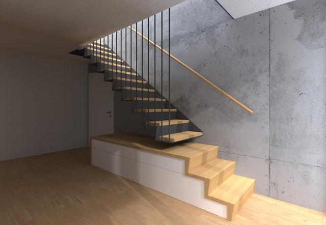 Entwurf Treppe Industriel Escalier Leipzig Par Bau