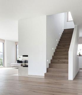 haus m neubau einfamilienhaus treppenhaus. Black Bedroom Furniture Sets. Home Design Ideas