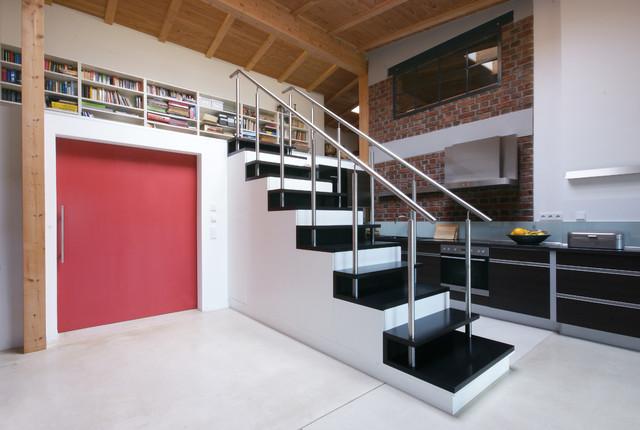 loftwohnung leipzig industrial treppenhaus other metro von bau raum design. Black Bedroom Furniture Sets. Home Design Ideas